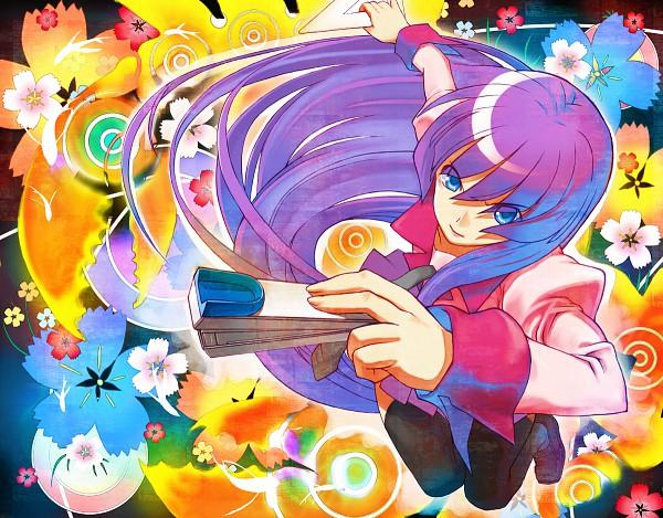 Tags: Anime, Kikurin, Monogatari, Senjougahara Hitagi, Stapler, Pixiv