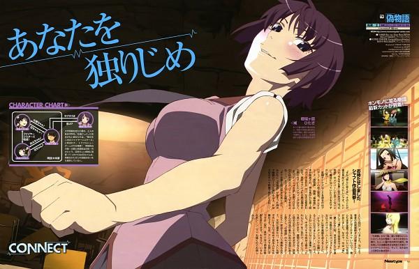Tags: Anime, Tamura Yoshio, Shaft (Studio), Monogatari, Senjougahara Hitagi, Newty, Newtype Magazine (Source), Magazine (Source), Scan, Official Art
