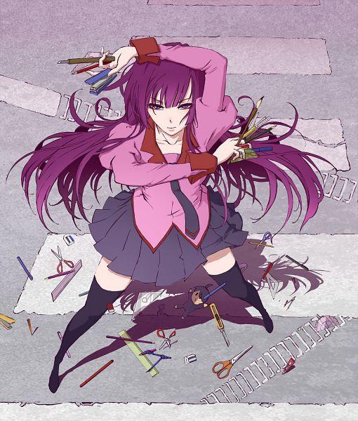 Tags: Anime, Pixiv Id 2041979, Monogatari, Senjougahara Hitagi, Stapler, Cutter, Stationery