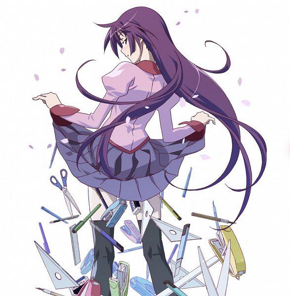 Tags: Anime, Watanabe Akio, Shaft (Studio), Monogatari, Senjougahara Hitagi, Stationery, Ruler, Official Art