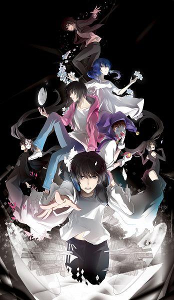Tags: Anime, Rahwia Kim, Senka (Nico Nico Singer), Clown, Pierrot (VOCALOID), Song-Over, Musunde Hiraite Rasetsu to Mukuro, Fanart, Karakuri Pierrot, Mobile Wallpaper, BadBye, Nico Nico Singer, Reflect (VOCALOID)