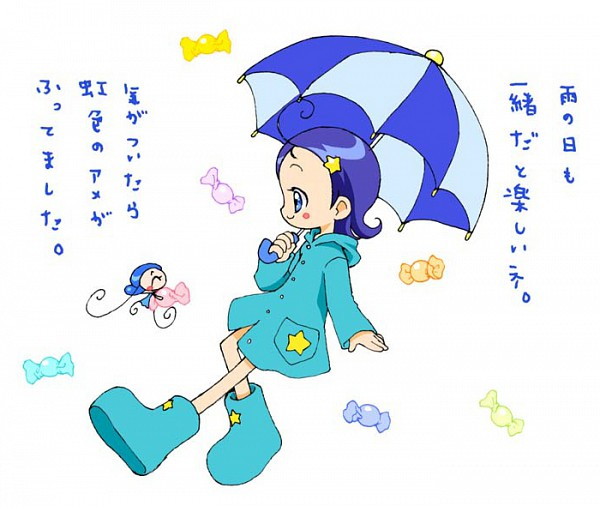 Tags: Anime, Ojamajo DoReMi, Senoo Aiko, MiMi (Ojamajo DoReMi), Rain Coat, Fanart, Artist Request
