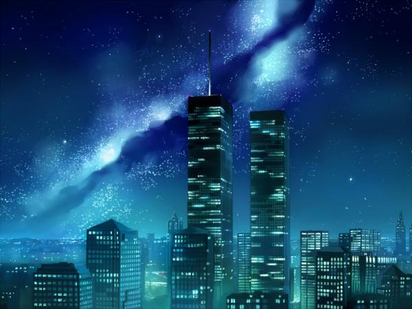 Tags: Anime, Seo Tatsuya, No Character, City Lights, Skyscraper, Pixiv, Original, Wallpaper