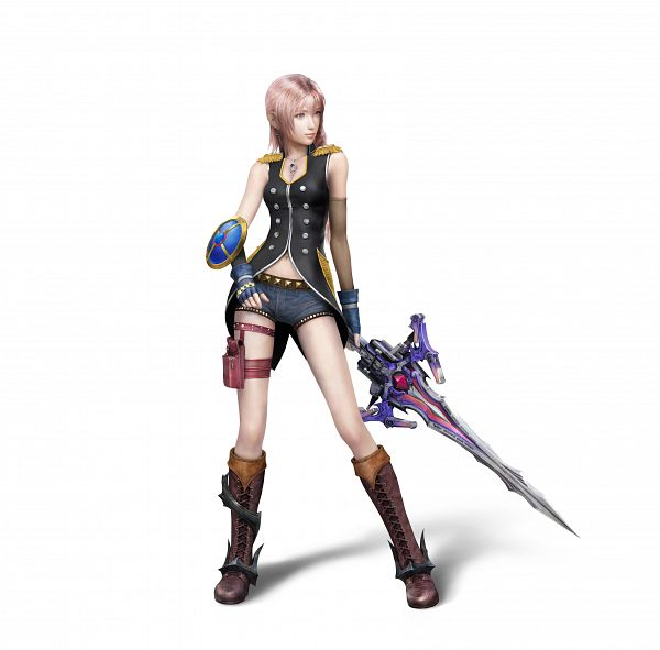 Tags: Anime, Final Fantasy XIII, Serah Farron, Style and Steel, Official Art, 3D