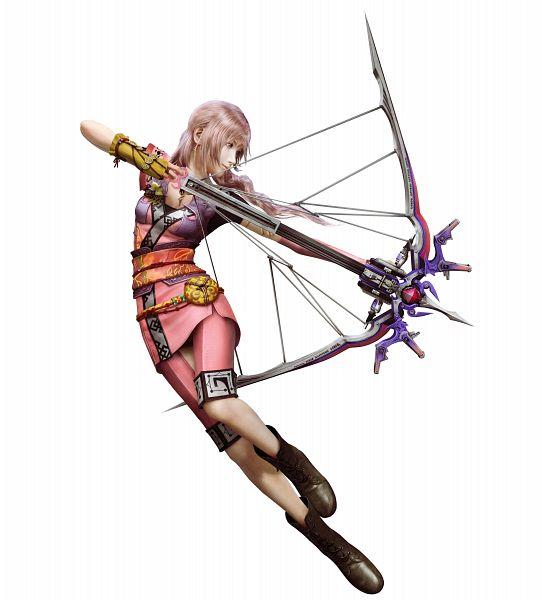 Tags: Anime, Nomura Tetsuya, Final Fantasy XIII, Serah Farron, 3D, PNG Conversion, Official Art