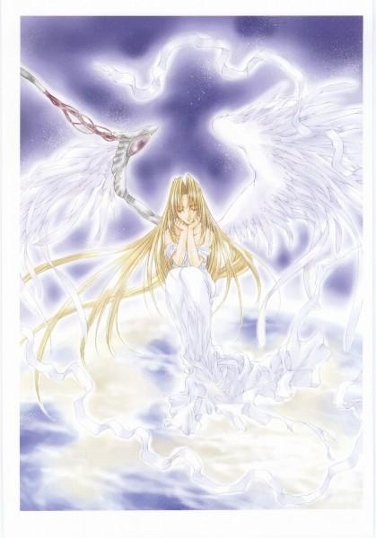 Tags: Anime, Nanase Aoi, Angel Dust, Angel Flavor Aoi Nanase Illustrations, Seraph (Angel Dust), Heaven, Mobile Wallpaper, Official Art