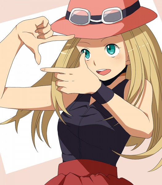 Tags: Anime, Sakuraba Hinano, Pokémon X & Y, Pokémon, Serena (Pokémon), Photo Shot Gesture, Fanart, Pixiv