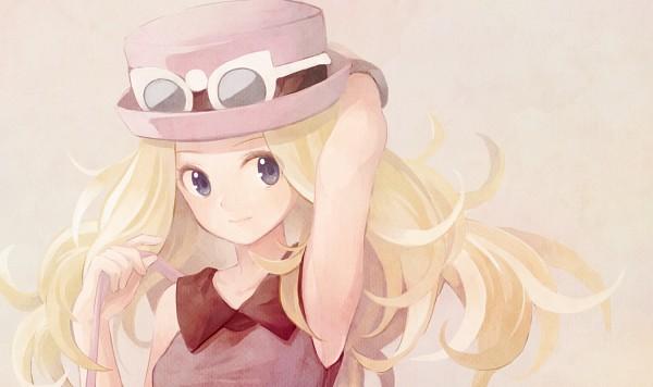 Tags: Anime, Ma Na Roo, Pokémon, Serena (Pokémon), Glasses On Hat, Holding Bag, Pixiv, Fanart, Fanart From Pixiv