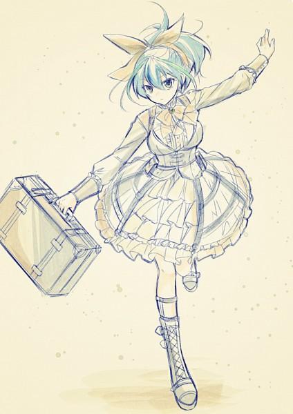 Tags: Anime, Mitsufuki, Yu-Gi-Oh! ARC-V, Yu-Gi-Oh!, Serena (Yu-Gi-Oh! ARC-V), Briefcase, Holding Bag, PNG Conversion, Pixiv, Mobile Wallpaper, Fanart From Pixiv, Fanart