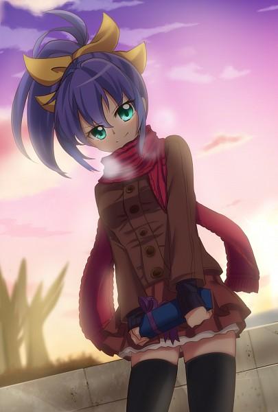 Tags: Anime, Pixiv Id 3079244, Yu-Gi-Oh!, Yu-Gi-Oh! ARC-V, Serena (Yu-Gi-Oh! ARC-V), Holding Gift, Brown Skirt, Dutach Angle, Pixiv, Fanart, Fanart From Pixiv, PNG Conversion