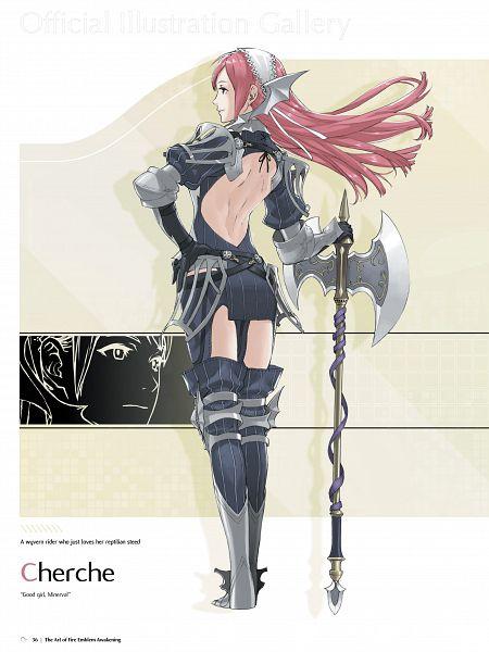 Tags: Anime, Kozaki Yuusuke, Intelligent Systems, The Art of Fire Emblem: Awakening, Fire Emblem: Kakusei, Serge (Fire Emblem), Official Art, Cherche