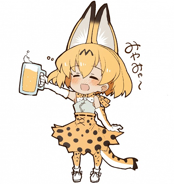 Tags: Anime, Pixiv Id 300488, Kemono Friends, Serval (Kemono Friends), Semi Chibi, Fanart, Fanart From Pixiv, Pixiv