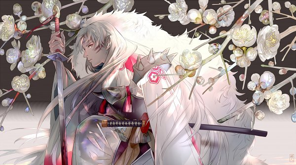 Tags: Anime, Saiga Tokihito, InuYasha, Sesshoumaru, Fanart, deviantART, Wallpaper