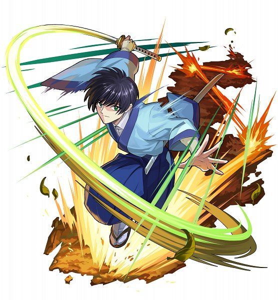 Tags: Anime, studioking, Rurouni Kenshin, Boku & Dragons, Seta Soujirou, Wooden Sandals, Official Art