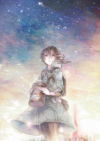 Tags: Anime, Mizutamari Tori, Namco, Fragile: Sayonara Tsuki no Haikyo, Seto (Fragile), Fanart, Mobile Wallpaper, Fanart From Pixiv, Pixiv