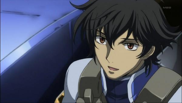 Tags: Anime, Mobile Suit Gundam 00, Setsuna F. Seiei, Space Suit, Screenshot, Gundam Meisters
