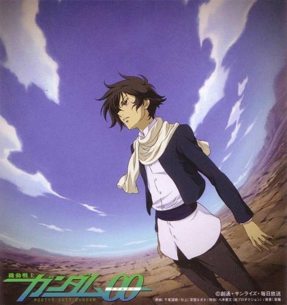 Tags: Anime, Chiba Michinori, Sunrise (Studio), Mobile Suit Gundam 00, Setsuna F. Seiei, CD (Source), Official Art, Gundam Meisters