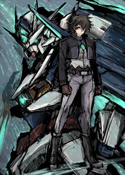 Tags: Anime, Mobile Suit Gundam 00, GNT-0000 00 Qan(T), Setsuna F. Seiei, Gundam Meisters