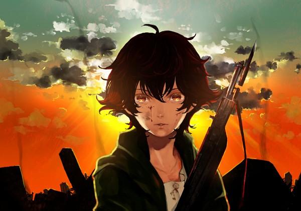 Tags: Anime, Kaihirow, Mobile Suit Gundam 00, Setsuna F. Seiei, Destruction, Gundam Meisters