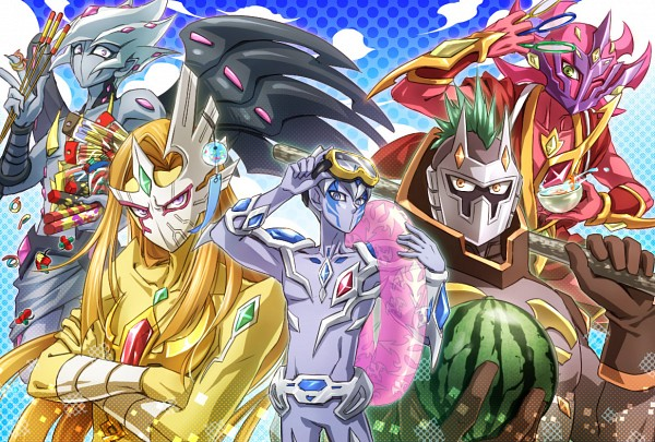 Tags: Anime, Pixiv Id 47616, Yu-Gi-Oh! ZEXAL, Yu-Gi-Oh!, Girag, Mizael, Alito, Vector (Yu-Gi-Oh! ZEXAL), Durbe, Pixiv, Fanart, Fanart From Pixiv, Seven Barian Emperors