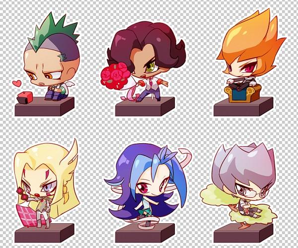 Tags: Anime, HopereiV, Yu-Gi-Oh!, Yu-Gi-Oh! ZEXAL, Durbe, Kamishiro Rio, Gilag, Mizael, Alito, Vector (Yu-Gi-Oh! ZEXAL), Pixiv, Fanart, Fanart From Pixiv