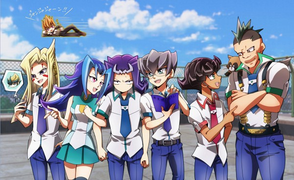 Tags: Anime, Pixiv Id 2010304, Yu-Gi-Oh! ZEXAL, Yu-Gi-Oh!, Kamishiro Ryoga, Girag, Kamishiro Rio, Mizael, Alito, Tenjou Kaito, Ponta (Yu-Gi-Oh! ZEXAL), Vector (Yu-Gi-Oh! ZEXAL), Durbe