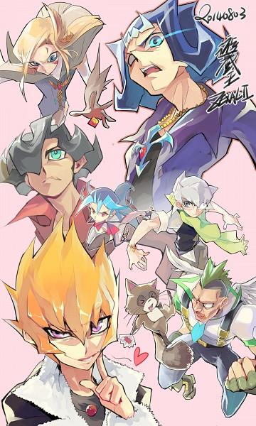 Tags: Anime, Evolution (Pixiv5555486), Yu-Gi-Oh!, Yu-Gi-Oh! ZEXAL, Mizael, Kamishiro Ryoga, Alito, Ponta (Yu-Gi-Oh! ZEXAL), Vector (Yu-Gi-Oh! ZEXAL), Durbe, Kamishiro Rio, Girag, Raccoon