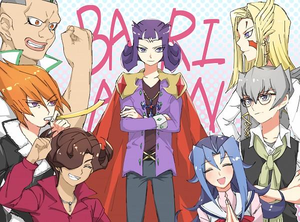 Tags: Anime, Pixiv Id 20834282, Yu-Gi-Oh!, Yu-Gi-Oh! ZEXAL, Vector (Yu-Gi-Oh! ZEXAL), Durbe, Kamishiro Rio, Kamishiro Ryoga, Girag, Mizael, Alito, Text: Character Group Name, Big Nose