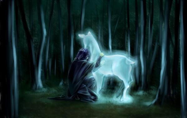 Tags: Anime, Pixiv Id 1124509, Harry Potter, Severus Snape, Expecto Patronum, Pixiv, Fanart, Null