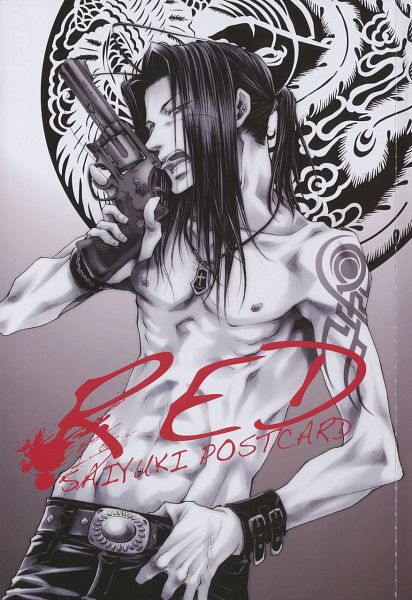 Tags: Anime, Kazuya Minekura, Saiyuki, Sha Gojyo, Scan, Mobile Wallpaper, Official Art