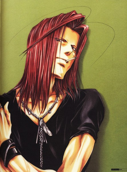 Tags: Anime, Kazuya Minekura, Saiyuki, Sha Gojyo, Scan, Official Art