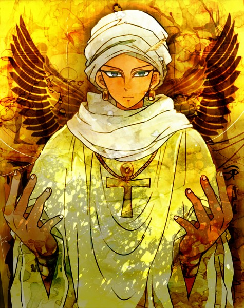 Tags: Anime, Mosha (200172), Yu-Gi-Oh!, Yu-Gi-Oh! Duel Monsters, Shadi, Millennium Key, Turban, Ankh (Object), Fanart, Pixiv, Fanart From Pixiv