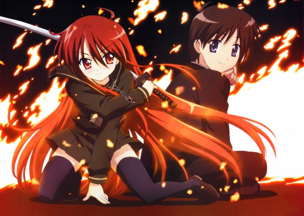 Tags: Anime, Shakugan no Shana, Sakai Yuuji, Shana, Official Art, Burning-eyed Shana