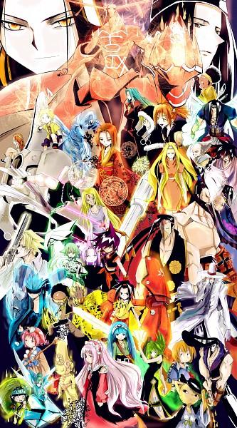 Tags: Anime, Pixiv Id 3327289, Shaman King, Umemiya Ryuunosuke, Kyouyama Anna, Spirit of Fire, Lee Pyron, Amidamaru, Usui Horokeu, Chocolove McDonell, Kororo, Asakura Yoh, Nichrom