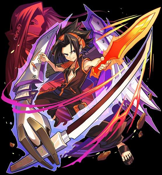 Tags: Anime, studioking, Boku & Dragons, Shaman King, Asakura Hao, Asakura Yoh, Official Art
