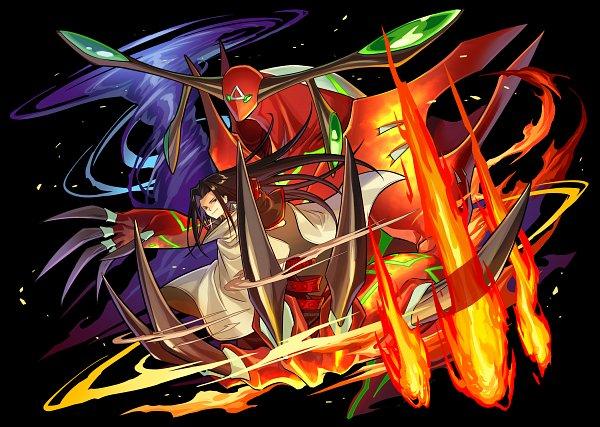 Tags: Anime, studioking, Boku & Dragons, Shaman King, Asakura Hao, Spirit of Fire, Tornado, Official Art