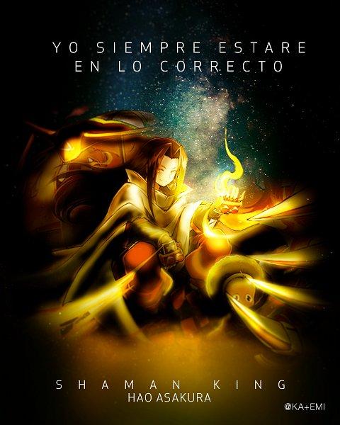 Tags: Anime, Shaman King, Opacho, Asakura Hao, Spanish Text