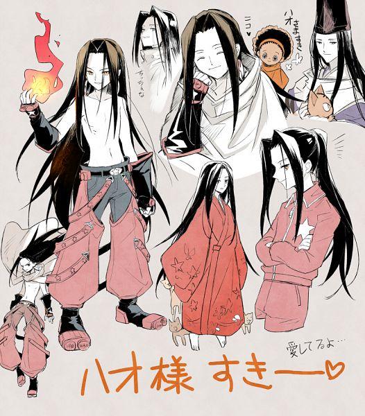 Tags: Anime, Aki (Pixiv560597), Shaman King, Matamune, Opacho, Asakura Hao, Fanart From Pixiv, Fanart, Pixiv