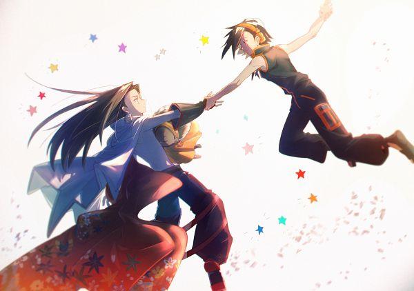 Tags: Anime, Aki (Pixiv560597), Shaman King, Opacho, Asakura Hao, Asakura Yoh, Fanart From Pixiv, Fanart, Pixiv