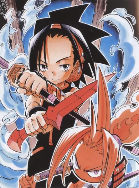 Tags: Anime, Hiroyuki Takei, Shaman King, Asakura Yoh, Amidamaru, Official Art