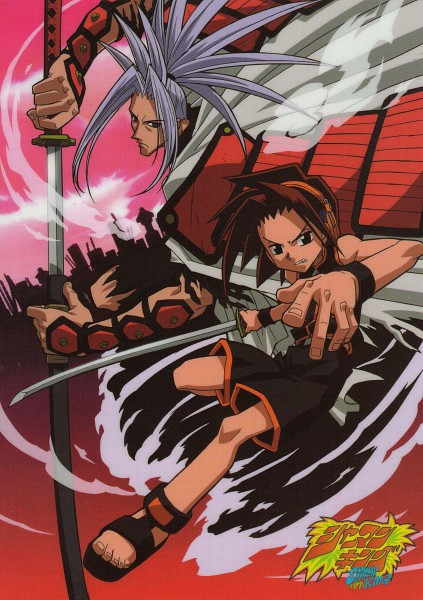 Tags: Anime, Shaman King, Amidamaru, Asakura Yoh, Mobile Wallpaper, Official Art