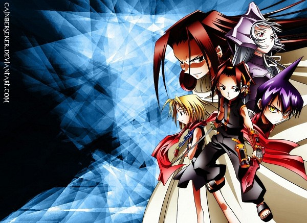 Tags: Anime, Shaman King, Asakura Yoh, Iron Maiden Jeanne, Asakura Hao, Tao Ren, Kyouyama Anna, Wallpaper, Asakura Twins