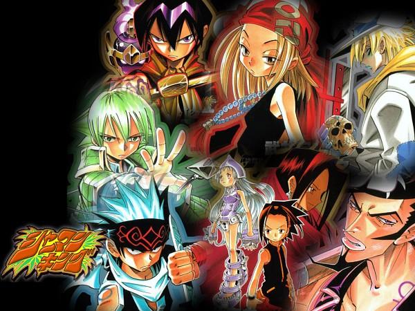 Tags: Anime, Shaman King, Umemiya Ryuunosuke, Asakura Yoh, Johann Faust VIII, Usui Horokeu, Tao Ren, Kyouyama Anna, Ainu Clothes, Wallpaper