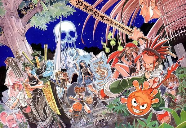 Tags: Anime, Shaman King, Marion Phauna, Tao Jun, Asakura Mikihisa, Amidamaru, Lee Pyron, Tamamura Tamao, Asakura Yoh, Matilda Matisse, Oyamada Manta, Kanna Bismarch, Kyouyama Anna