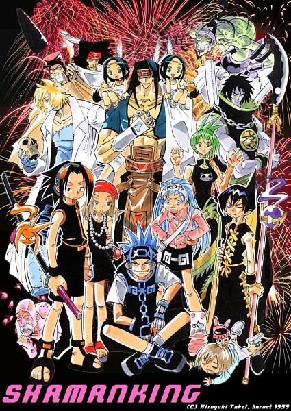 Tags: Anime, Shaman King, Oyamada Manta, Bason, Rapp, Kyouyama Anna, Tokagerou, Kororo, Tao Jun, Lee Pyron, Usui Horokeu, Umemiya Ryuunosuke, Amidamaru