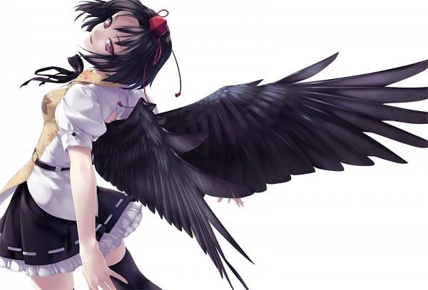 Tags: Anime, Rokuwata Tomoe, Touhou, Shameimaru Aya, Pixiv, Fanart From Pixiv, Fanart, Aya Shameimaru