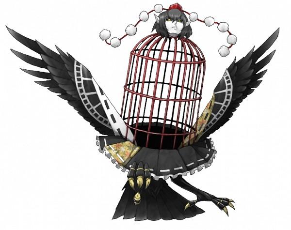 Tags: Anime, Mazeran, Touhou, Shameimaru Aya, Shameimaru Aya (Crow), Persona (Parody), Pixiv, PNG Conversion, Fanart, Aya Shameimaru