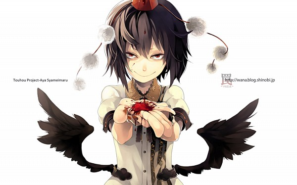 Tags: Anime, Riku (Wana), Touhou, Shameimaru Aya, Creepy Smile, Fanart, Aya Shameimaru