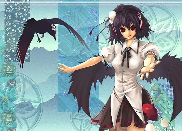 Tags: Anime, Pixiv Id 628758, Touhou, Shameimaru Aya, Invitation, Fanart, Fanart From Pixiv, Pixiv, Aya Shameimaru