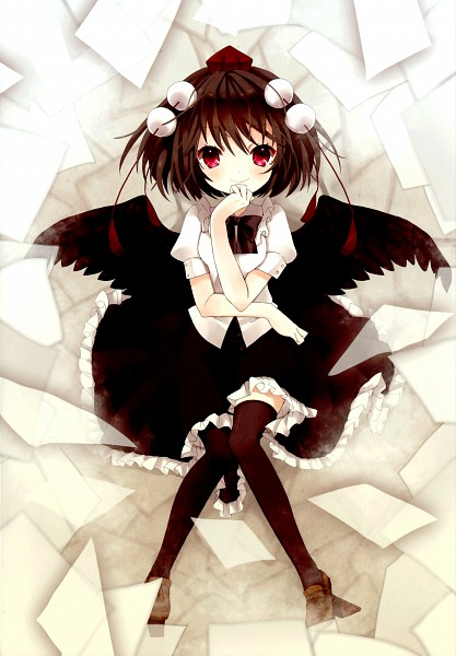 Tags: Anime, Shimakoma, Stokesia, Touhou, Shameimaru Aya, Mobile Wallpaper, Pixiv, Aya Shameimaru
